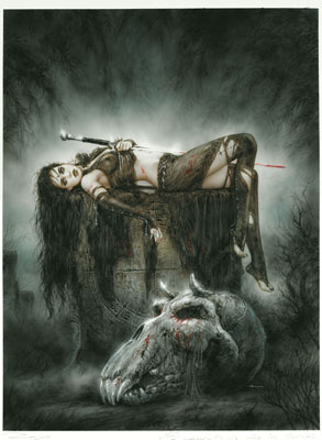 PÓSTER LUIS ROYO 36: THE ORC CEMENTERY