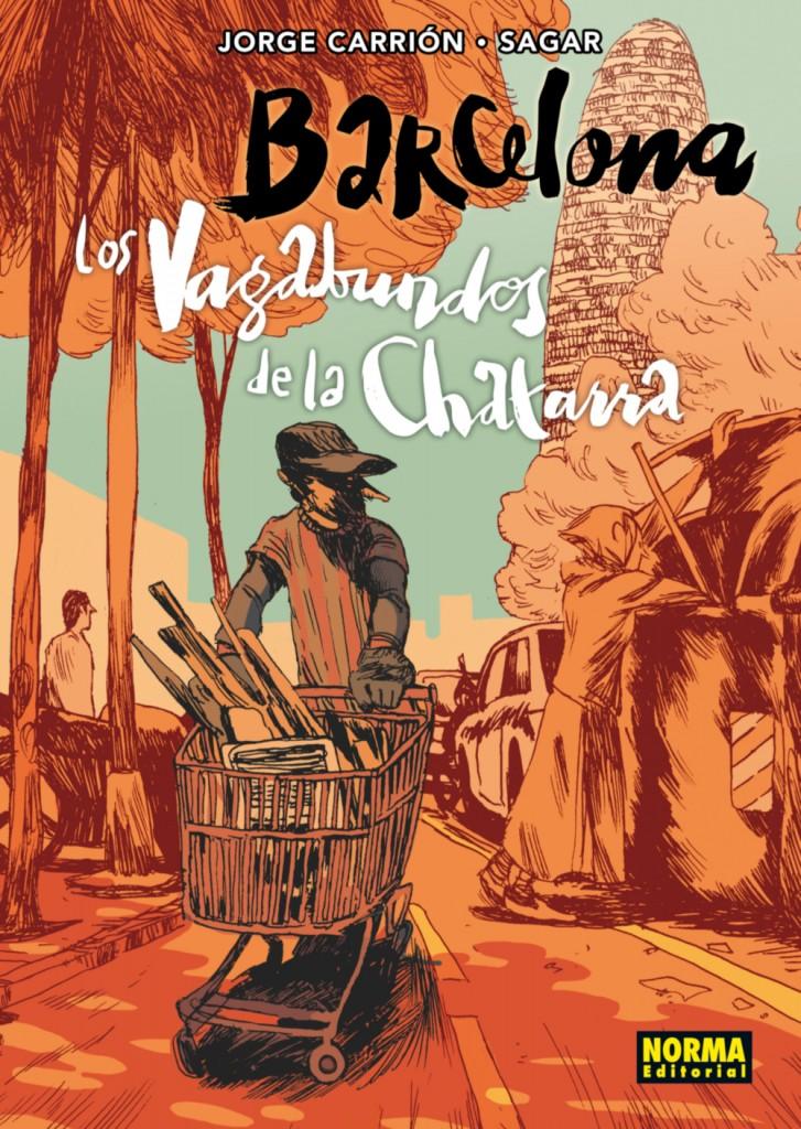 FORRO CARTONE BARCELONA LOS VAGABUNDOS DE LA CHATARRA