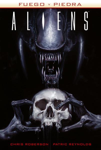 Fuego y piedra del universo de Alien