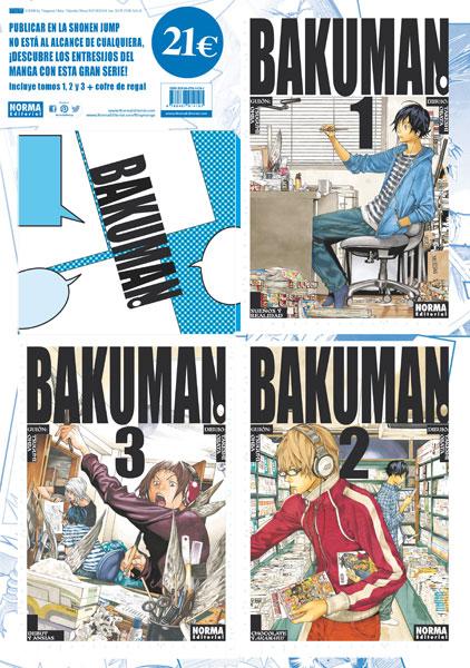 Pack especial BAKUMAN. vols. 1, 2 y 3 con cofre
