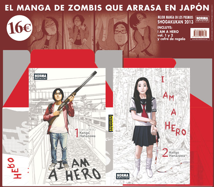 PACK ESPECIAL I AM A HERO 1 Y 2